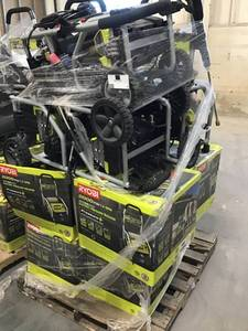 Lot Of 14 Ryobi Pressure Washers: 1,700/2,000 PSI