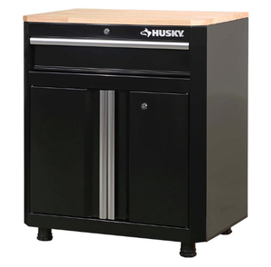 Husky 32.8 in. H x 28 in. W x 18 in. D 1-Drawer 2-Door Steel Garage Base Cabinet