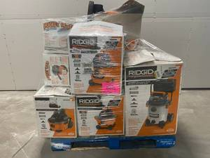 Pallet of Ridgid Shop Vacs - Store-Returns