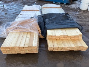 (2) Pallets Of Tongue & Groove Pine Lumber