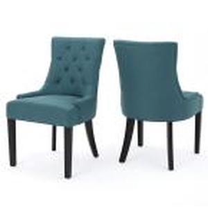 Noble House Home Furnishings Teal Dining Room Cloth Chair