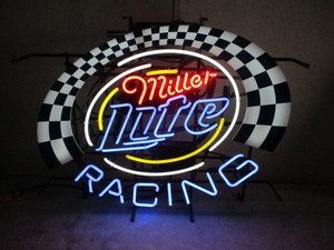 Miller Lite Beer Sign (Racing)