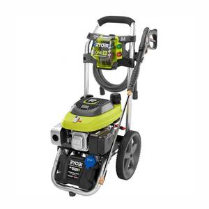 RYOBI 3,200 PSI 2.5 GPM ONE+ 18-Volt Electric Start Gas Pressure Washer in good conditions