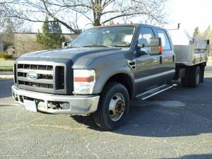 2009 Ford F-350 XLT Lariat Super Duty 4-Door Crew Cab 4x2 Dump Truck with Tafco Scott Body and Tommy-Gate Lift