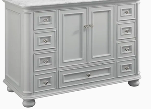 New Scott Living Wrightsville 48-in Light Gray Single Sink Bathroom Vanity with Sink