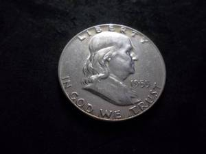 1955 Franklin Silver Half Dollar