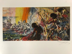 "Genuine Signed Numbered SALVADOR DALI Unframed Lithograph - ""Hawaiian Fisherman"""