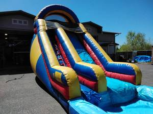 16 Ft Front Entry Waterslide with Pool
