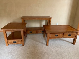 Lot of Four Matching Accent Tables