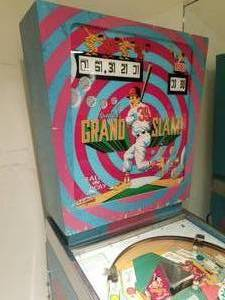Vintage Gottlieb Grand Slam Pinball Machine - 1972