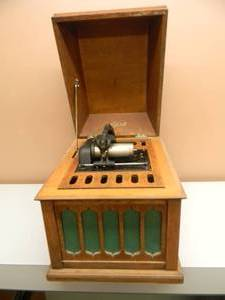 ANTIQUE EDISON AMBEROLA 50 CYLINDER PHONOGRAPH 1918 OAK - THESE ARE SELLING FOR OVER $700.00!!!!! - NICE! - SEE PICTURES!