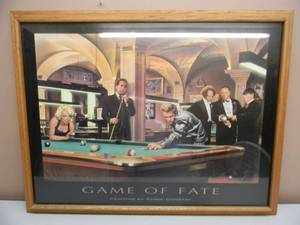 "GAME OF FAITH BY CHRIS CONSANI - PROFESSIONALLY FRAMED PIECE! - VERY NICE! - APPROX 35"" BY 27"" - SEE PICTURES!"
