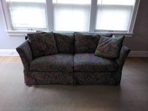Queen Size Floral Sleeper Sofa