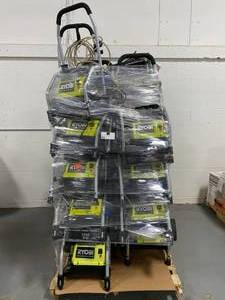 Huge Pallet of Ryobi Pressure Washers - Damaged or Missing Parts