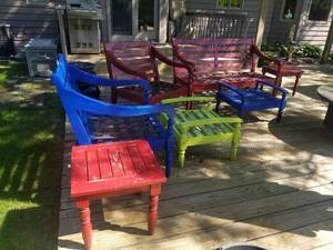 Colorful Outdoor Lounging Set