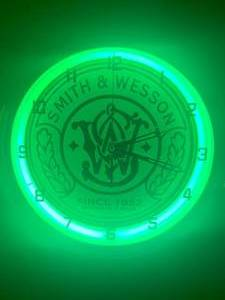 "Brand New 15"" Neon Smith & Wesson Clock"