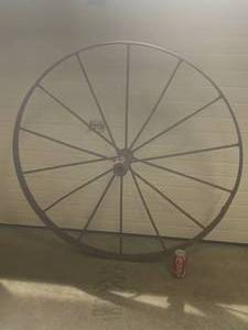 "Metal ""Wagon"" Style Wheel 42 1/2"" Diameter"