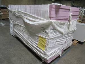 Owens Corning FOAMULAR 250 2 in. x 2 ft. x 8 ft. R-10 Rigid Foam Board Insulation Sheathing, F-400 - Some Nicks in Some Pieces.