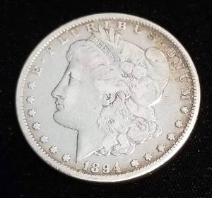 1894 MORGAN SILVER DOLLAR KEY DATE COIN