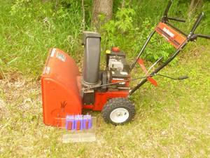 "Yard Machine 5 hp 22"" Snow Blower. Lightly used. Tested & works. As shown."