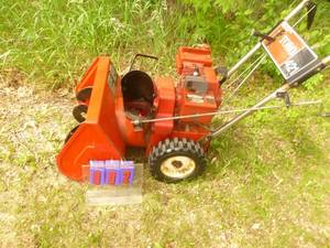 Toro 421 Snow Thrower. Needs tune up. As shown.