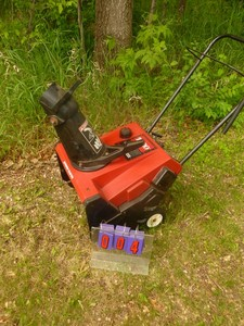Toro 1000 Snow Thrower. Was running but has been sitting a few years. As shown.