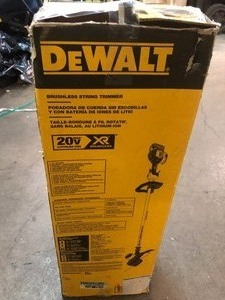 DEWALT 20-Volt MAX Lithium-Ion Cordless 13 in. Brushless Dual Line String Grass Trimmer w/ (1) 5.0Ah Battery and Charger New see pics!!!