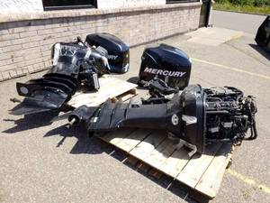 Lot of (2) Mercury 225 Boat Motors