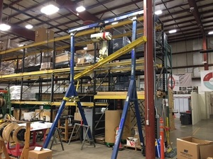 Rolling Gantry with Dayton 14' Quick Install Push Trolley 25K803