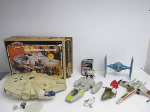 Large Lot of Vintage 70's-80's STAR WARS Action Figure Vehicles