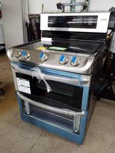 LG Stainless Steel 5-Burner Stove Double Oven