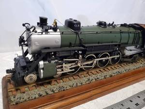 "Pecos River O Scale Painted Brass 4072G GN Great Northern 4-8-2 #2517 36"" long"