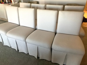 Set of Eight Upholstered Chairs