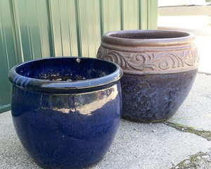 Two Large Ceramic Planter Pots