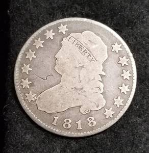 1818 US CAPPED BUST QUARTER