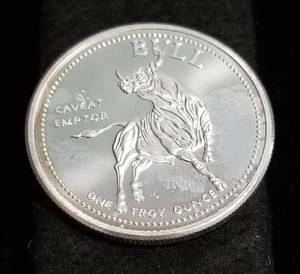 1 TROY OZ. .999 FINE SILVER BULLS AND BEARS