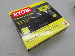 Ryobi 3/8in. Variable Speed Drill D43K with Tool Bag