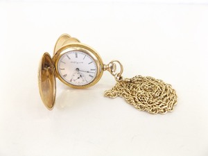 Antique 14k Yellow Gold Elgin Pocket Watch