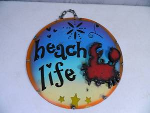 New Recycled Metal Garden Art Sign