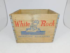 Vintage White Rock Sparkling Beverages Crate