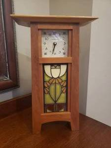 Arts & Crafts Schlambaugh & Sons Mantel Clock