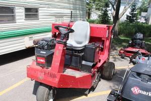Toro Ride-On Lawn Turf Sweeper 4800 Hi Lift Dump 44044 with Kohler Command Pro 18hp Engine