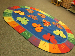LARGE, COLORFUL ALPHABET AND NUMBER RUG