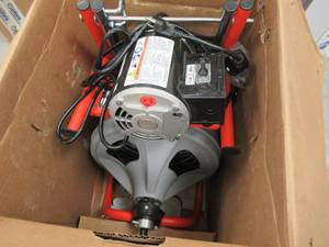 RIDGID 115-Volt K-400AF AUTOFEED Drum Machine with C-45 1/2 in. Integral Wound Cable 27013 - AUTOFEED WILL NOT ENGAGE WITH THE CABLES.
