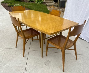 Fabulous Mid Century Modern Paul McCobb Dining Table & 4 Chairs