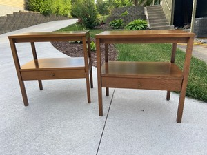 Paul McCobb Mid Century Modern Wood Side Tables Pair