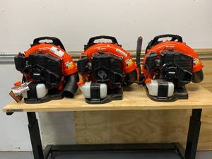 ECHO Lot of 3 Backpack Leaf Blowers.  2 of Model PB-580T and 1 of Model PB-580H