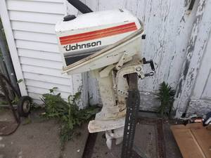 Johnson Outboard With Stand 4.5 Hp.  (No Gas To Test But Has Compression)