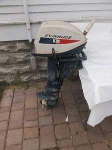 6 Hp. Evinrude Outboard Motor-Has Compression (No Gas To Test)