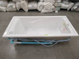 American Standard EverClean 6 ft. x 36 in. Reversible Drain Whirlpool Tub in White 7236LC.020
